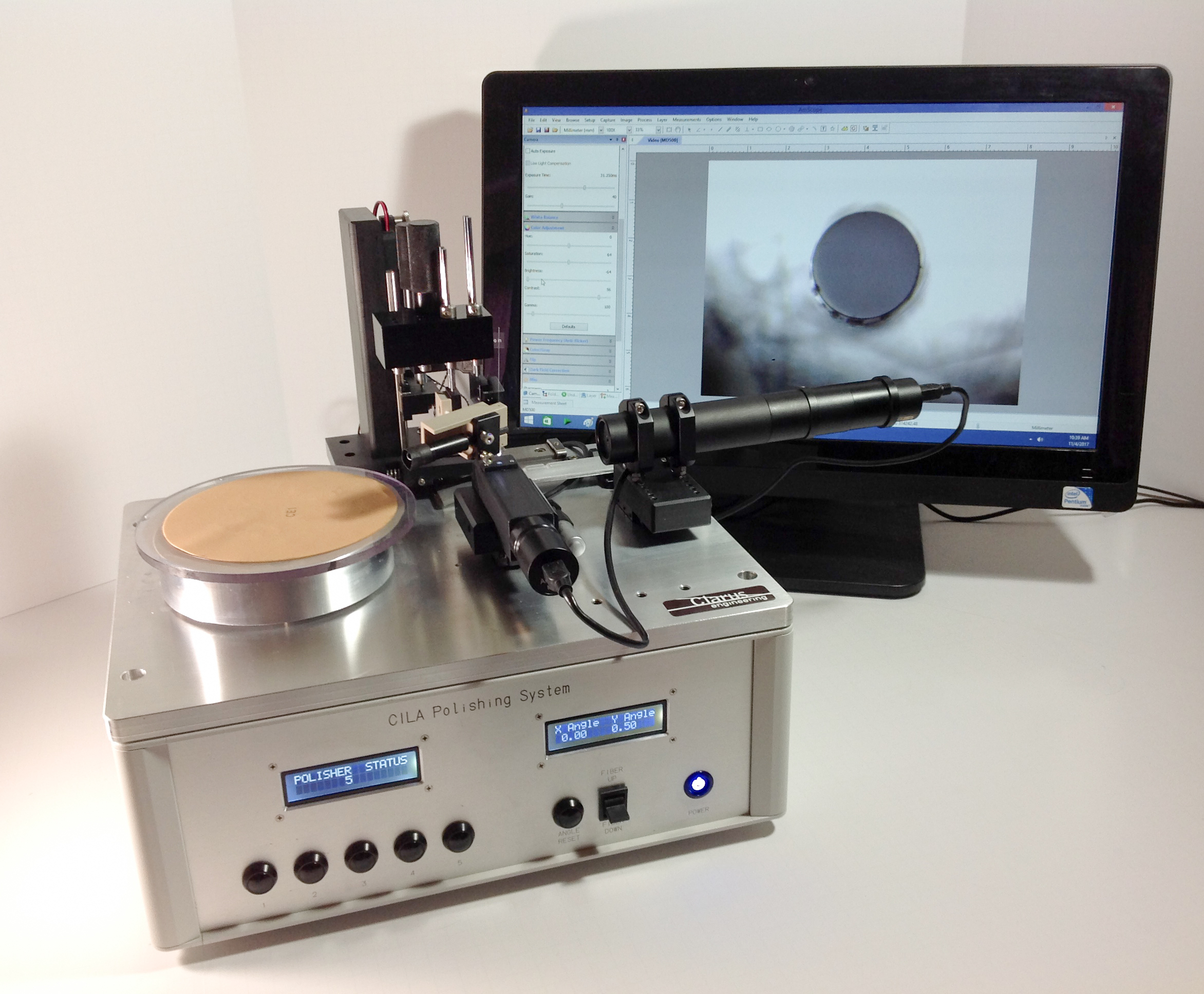 Cila 2.0 Fiber Optic Polishing by Clarus Engineering