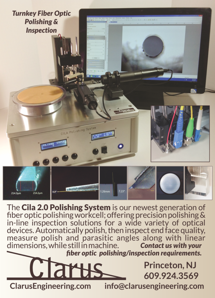 Cila 2.0 Fiber Optic Polishing and Inspection System by Clarus Engineering